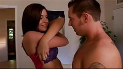 A pair of horny brunettes convince their BFs to swap partner