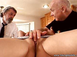 Preview 1 of Sweet Tits Swinger Threesome For Brunette Swinger Wife