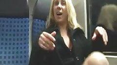 Name the Whore- Blonde Masturbates, Fucks, & Sucks on Train