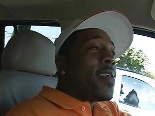 Short black guy picks up white chick for sex