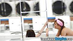 Teen facialized in public