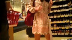 upskirts in the store