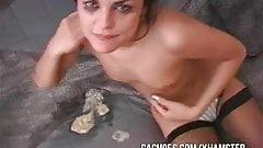 Tiny Little Slut Gets Good Gagging