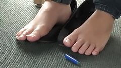 Candi Asian Feet in the Library - DELICIOUS