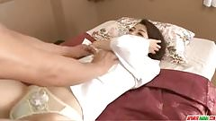 Maki Hojo likes having her tight vag pumped hard