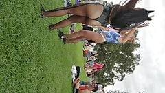 Creep shots Voodoo Fest sluts dancing with their asses out