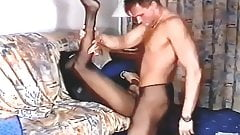 Girl in black Pantyhose is getting fucked by guy