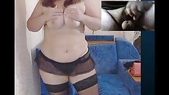 Lonely Housewife strips and fucks herself on cam.