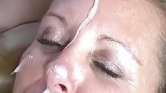 Facial and licked clean by a female friend