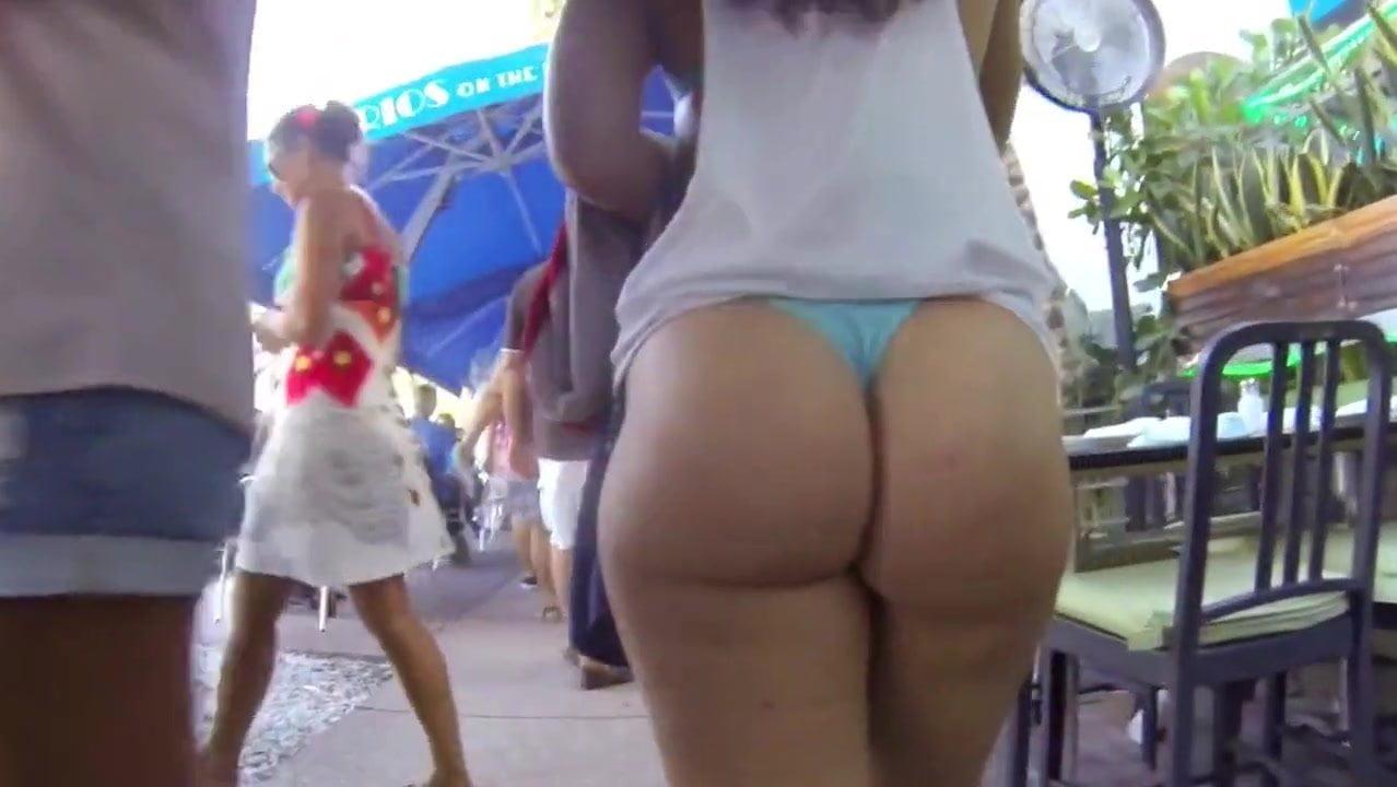 bikini ass walking