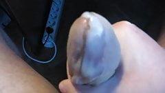 Cumming in nylon sock