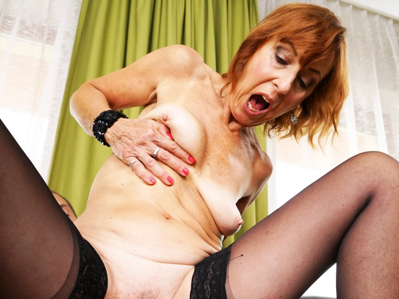 53 year old granny fucks her old pussy with a dildo - 4 3