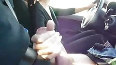 21yr old Crystal giving a handjob while driving
