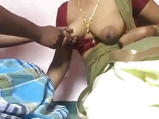 Maid S Boobs And Nipples Squeezed Hard By Owner