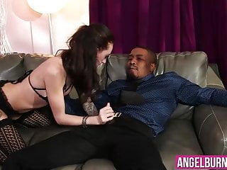 Slutty chick enjoys in a huge black cock