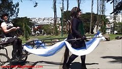 Mistress Alice and Pony Tindala - Human Pony Cart! from Petp