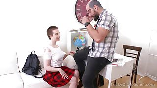 Tricky Old Teacher - Checking her sex skills