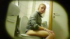 Blonde amateur teen toilet pussy ass hidden spy cam voyeur 8