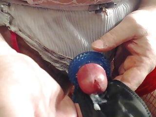 Cd wanking, shooting sperm ,cum load