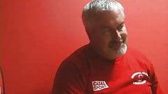 Bearded daddy in locker room