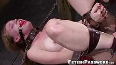 Nubile blonde Jayden Rae dominated by big cock in bondage