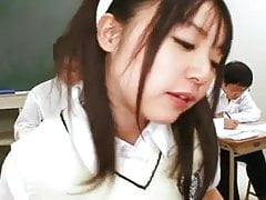 Japanese Schoolgirl helps out her classmate 1