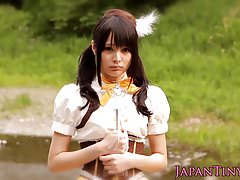 Petite japanese cosplay babe pussyfucked