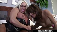 Mature Mommy Deauxma & Ashlee Chambers Share Big Black Cock!