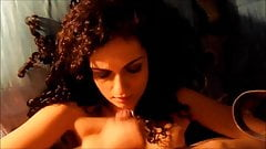 Curly Brunette Amateur - Huge Cum Facial
