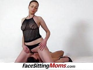 High heels legs czech lady Renate sitting on a boys face