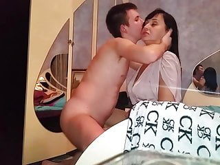 Russian mature mom suck her boy