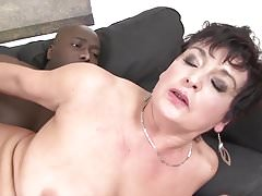 Granny hardcore fucked by black man in her tight ass sex Thumbnail