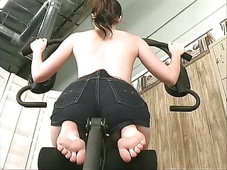 Hot Brunette Strips In The Gym And Sticks A Vibrator Up Her Tight Teen Twat