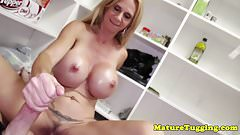 Bigtitted cougar milf jerking pov