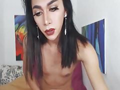 Horny Shemale Doing Hard Anal Toying