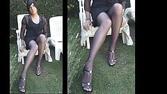 my pantyhose platino cleancut with black dress brown hair