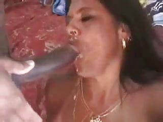 hotwife latin Milf cum in mouth from husband and BBC friend