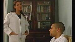 Karen Lancaume and her patient