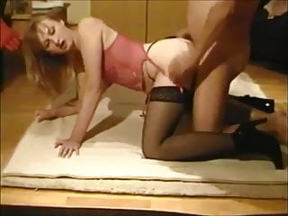 Beautiful Wife In Stockings Fucked At Home