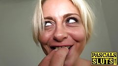 British MILF Kelly Cummings dominated and fed cum by Master