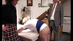 Schoolgirl smacked 9