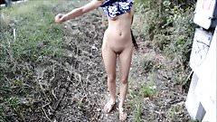 My Girlfriend Totaly Nude Naked Flashing Walking Dancing