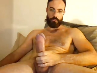 Sexy Bearded Str8 Guy with Big Cock cums Handsfree #11