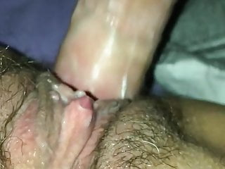 Hot close up of creamy fuck