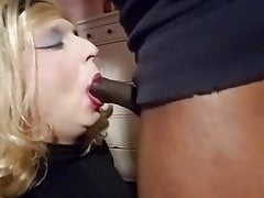 Sissy crossdresser Annette takes the big black load again