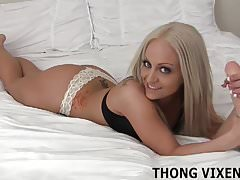 You cant resist me in my little thong JOI