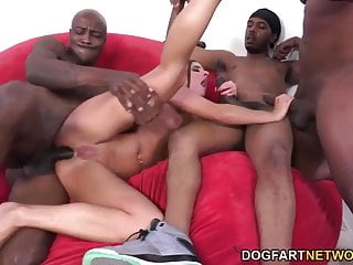 Euro Babe Amirah Adara Gets Gang Banged By Black Men