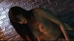 British slut Jodi gets fucked in fishnets