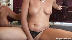 Horny MILFs Gangbang 1 Dude and Share His Cum