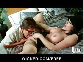 Busty house Nanny teaches younger man a few tricks in bed
